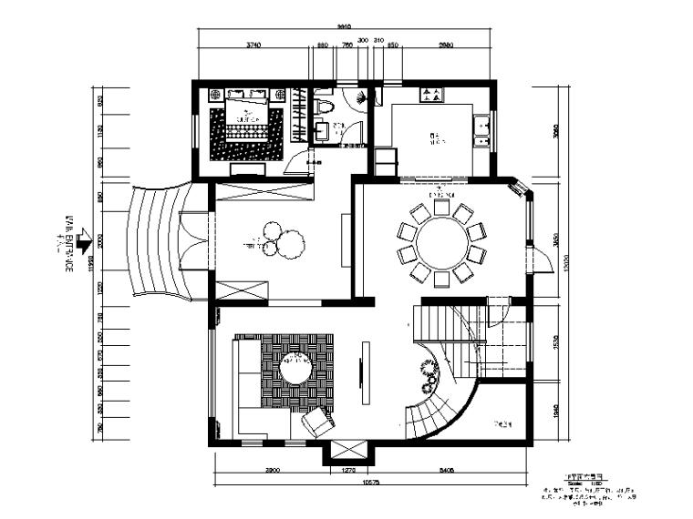 现代风格别墅样板房设计CAD施工图(含效果图)