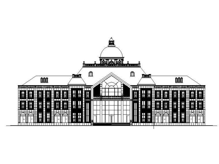 [福建]三层欧式风格风情俱乐部会所建筑施工图