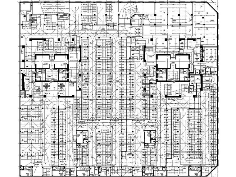 深圳47层超高层金融中心强电施工图(含变电所、计算书)
