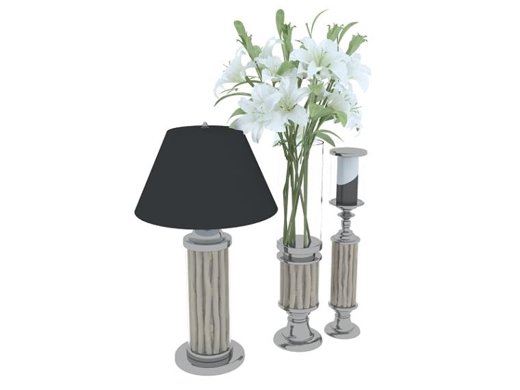 欧式花瓶台灯3D模型下载