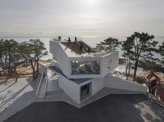 韩国WAVEON海边咖啡厅建筑