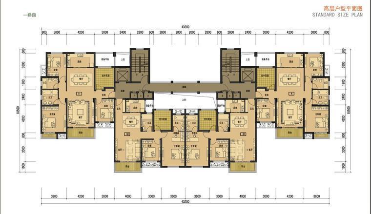 法式风格小高层住宅区规划及别墅建筑
