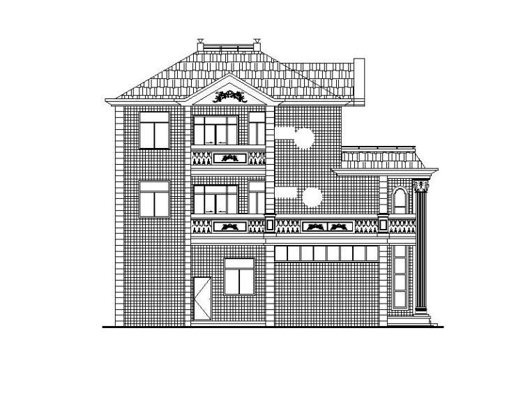 [安徽]三层小型别墅建筑施工图(含效果图)