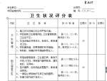 卫生状况评分表