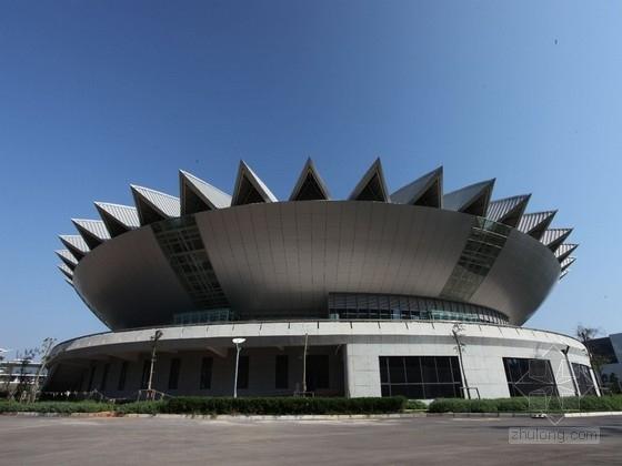 [云南]二层钢筋混凝土与钢混合框架结构体育馆群结构施工图