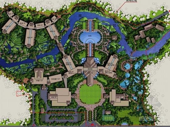 [西双版纳]傣族本土风情国际度假酒店景观规划设计方案
