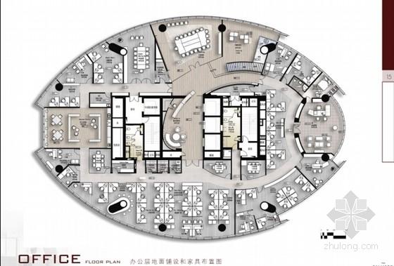 质感十足现代中式风格办公空间方案设计