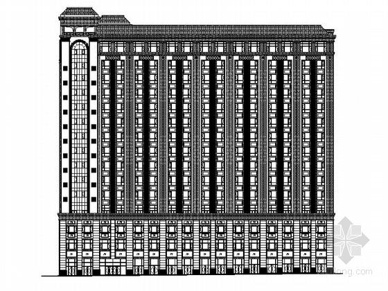 [江西]大型简欧风格农副产品综合市场建筑施工图(所有楼栋含效果图)