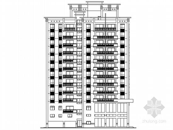 [深圳]12层欧式风格住宅楼设计施工图(含效果图)