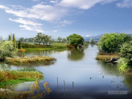 河道湿地PSD分层素材下载