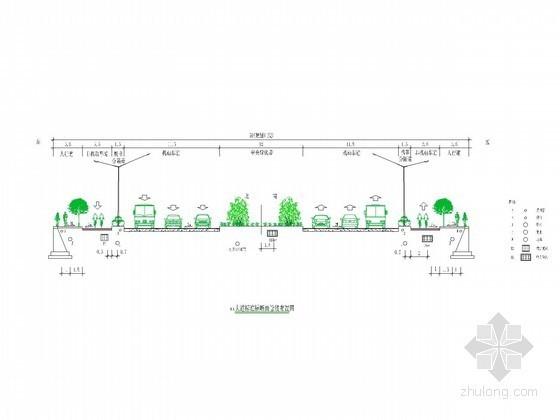 道路工程标准横断面管线布置图