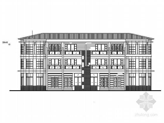 [莆田]湄洲岛鹅尾山某三层联排别墅(E型)建筑施工图