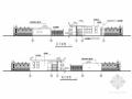 中学大门围墙结构施工图(含建筑图)