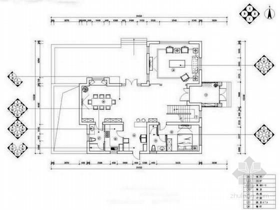 简欧风格独栋三层别墅室内装修设计方案(含配饰)
