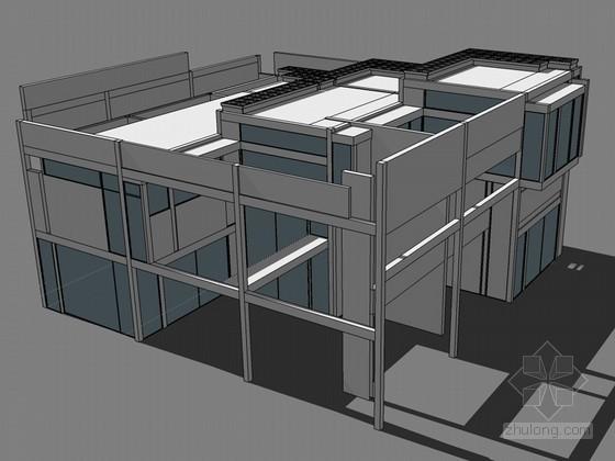 彼得艾森曼住宅设计SketchUp模型下载
