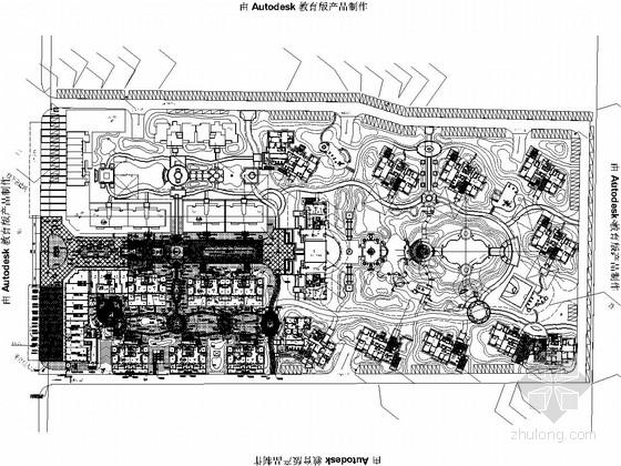 [河南]典雅宜居型小区景观规划设计施工图