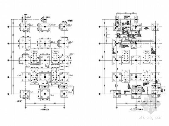 六层框剪结构电控楼结构施工图