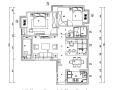 黑白灰色调现代风格样板房设计施工图(附效果图)