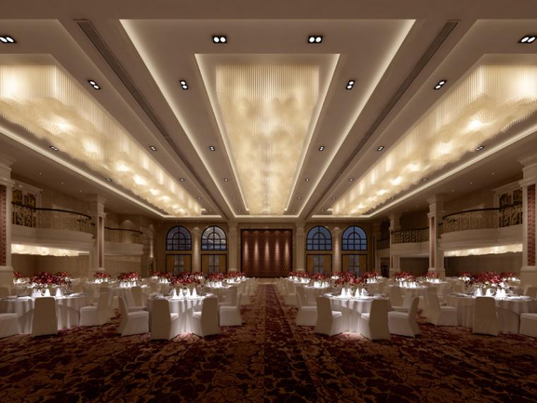 欧式宴会厅3D模型下载_1