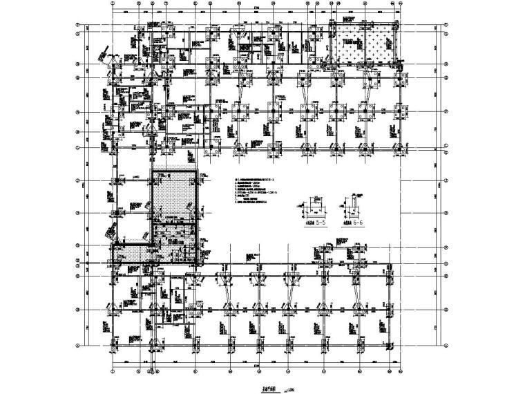 上海3层框架结构幼儿园结构图(6352㎡)