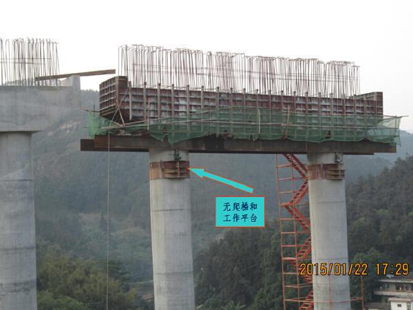 跨线桥墩高61.2m高墩群施工安全管理总结汇报66页(附爬架视频)