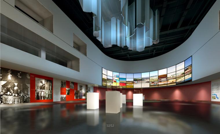 展览馆设计方案效果图(含3D模型)_2