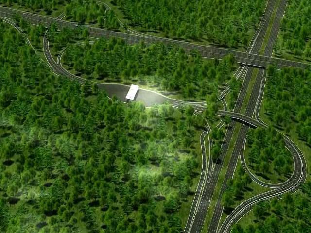 城市环路出口与国家高速公路相交互通式立交方案汇报(20分钟)