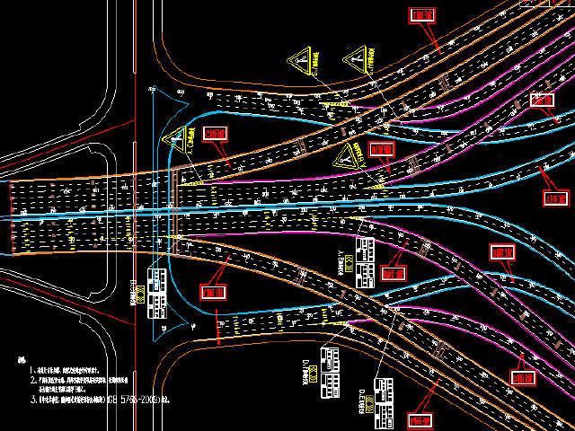 变宽箱梁鱼腹型箱梁斜腹板箱梁12.5m~54m宽高架桥工程图纸591张(含路照明交通给排水)