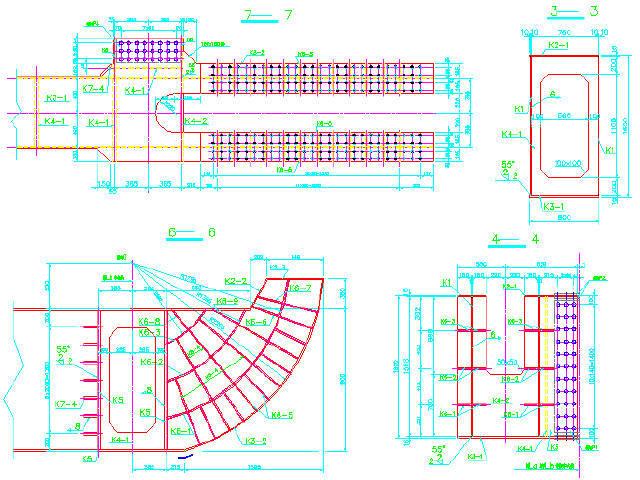 双塔双索面斜拉桥下复平台式牵索挂篮设计图63张CAD(附计算)