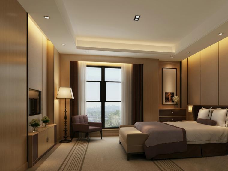 现代卧室3D模型下载-现代卧室