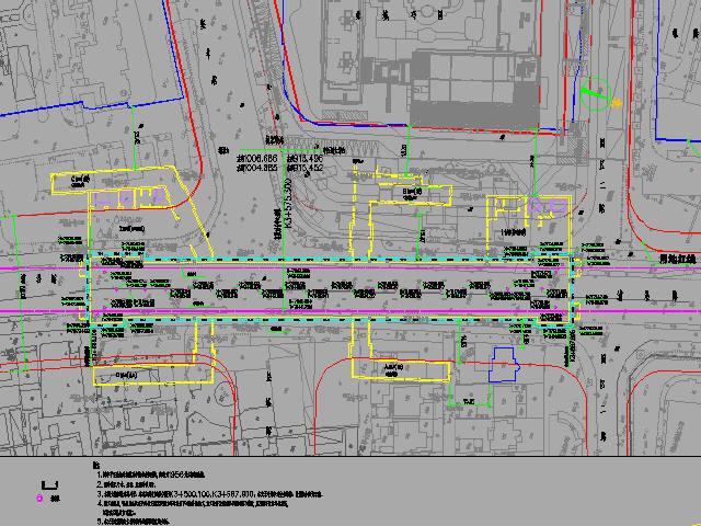 [浙江]双柱三跨地下二层岛式车站主体结构防水及围护结构设计图97张CAD