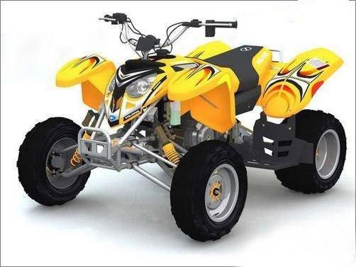 用3ds Max制作四轮摩托车