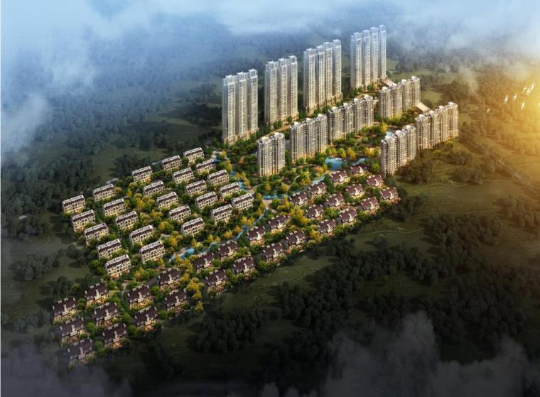 [河北]高层竖向线条住宅区规划及联排式单体建筑设计方案文本