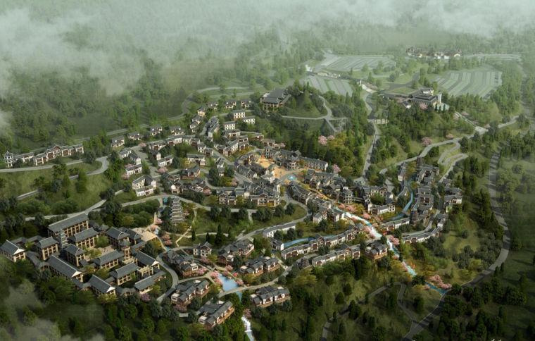[湖北]恩施大峡谷旅游风情小镇规划建筑方案文本