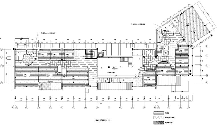 [北京]某二层中式餐厅室内装修施工图