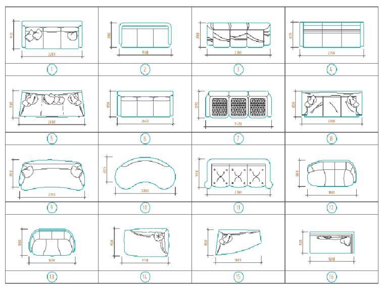 [知名企业]酒店会所住宅类CAD制图图库(图纸)