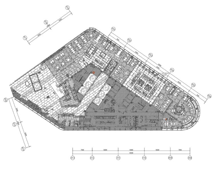[陕西]君悦特色酒店公区设计施工图+效果图-6二十二层平面布置图