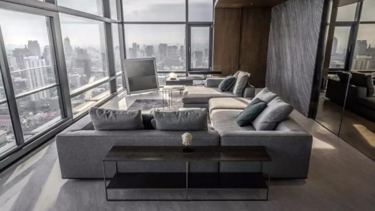 室内设计 130㎡的单身公寓,设计感十足_5