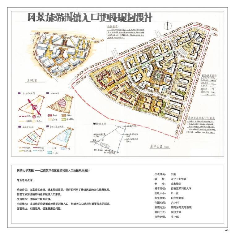 《城市规划快题100例》考研手绘资料-A (44)