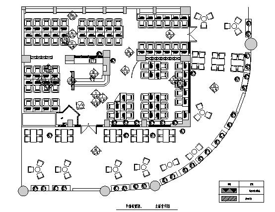 [成都]美式工业风网吧室内装饰设计施工图(含效果图)