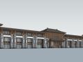 仿古商业街建筑SU模型
