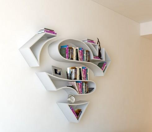 超人书架,除了不能起飞啥都有了