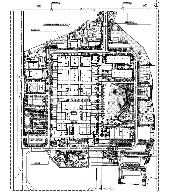 [浙江]工业新材料改造互联网创新产业园区特色小镇景观设计全套施工图(2016最新)_1