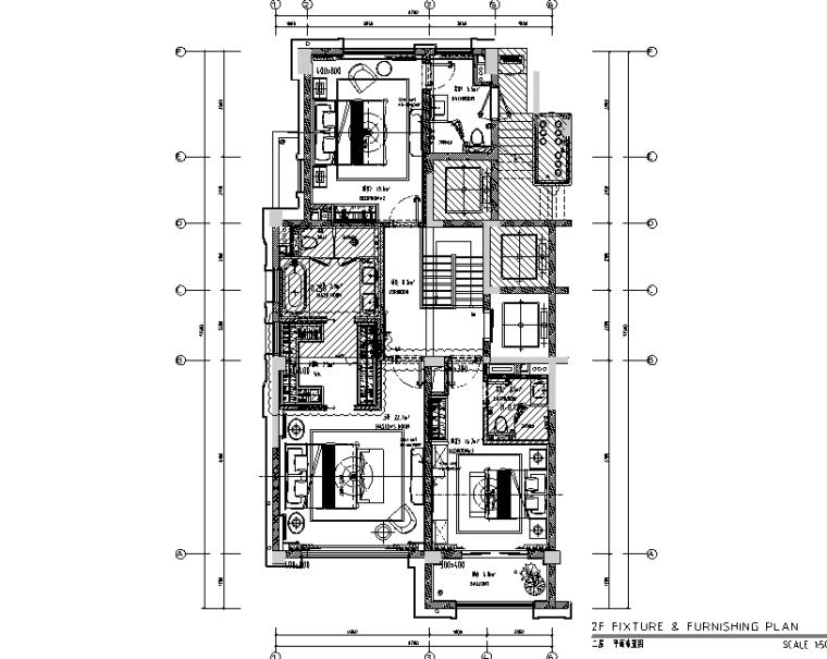 [上海]CCD大宁金茂府样板间设计施工图(附效果图)