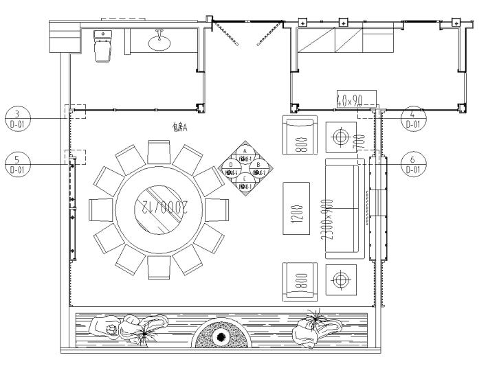 [四川]新中式风格——四星级饭店中餐厅施工图(含效果图)
