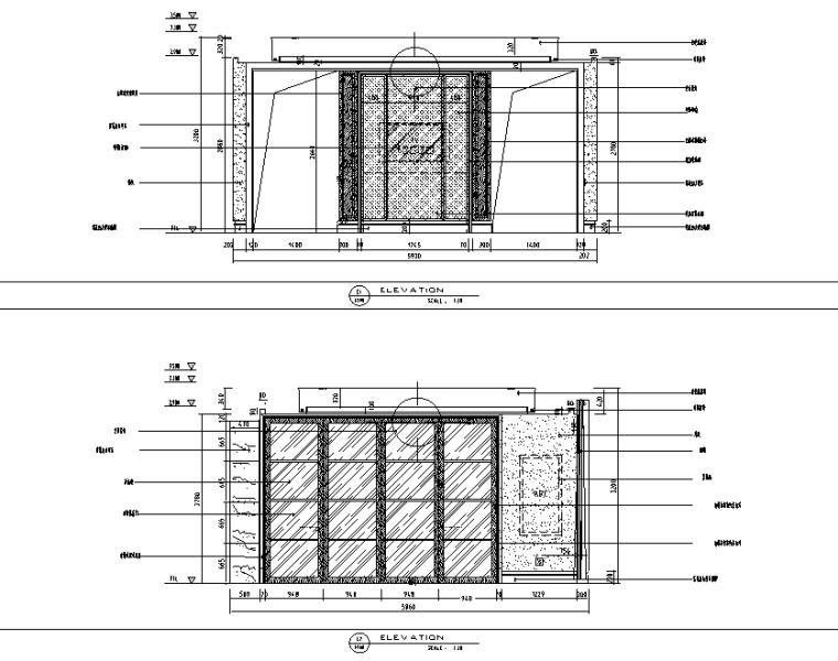 现代风格别墅总统套房设计施工图(附效果图)-立面