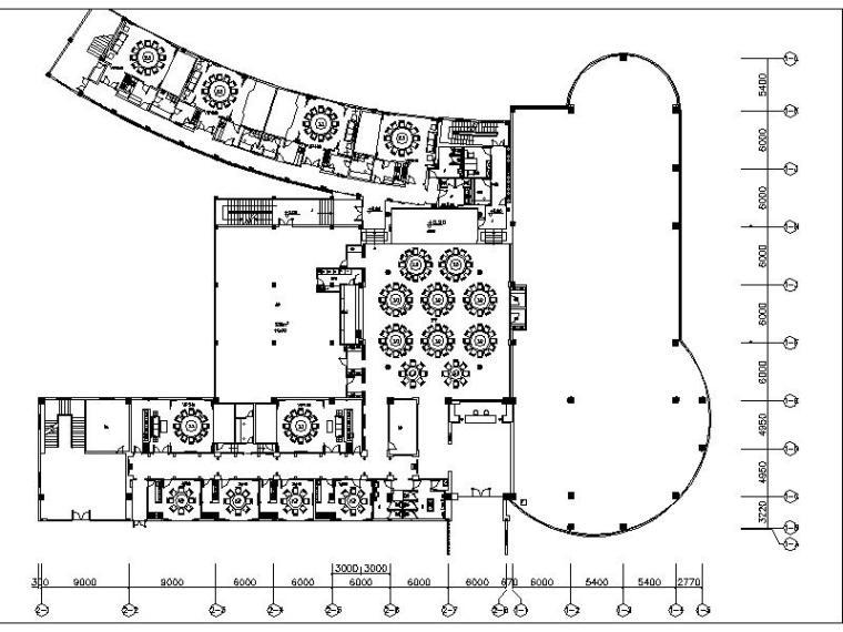 [安徽]某休闲中心首层中式徽菜馆室内设计施工图(含效果图)