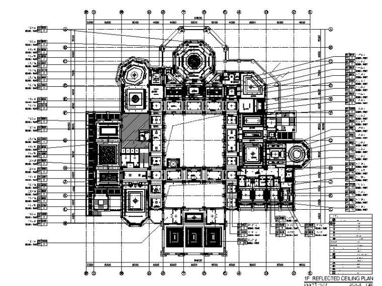 [广州]奢华欧式风格休闲中心室内设计施工图(含效果图)