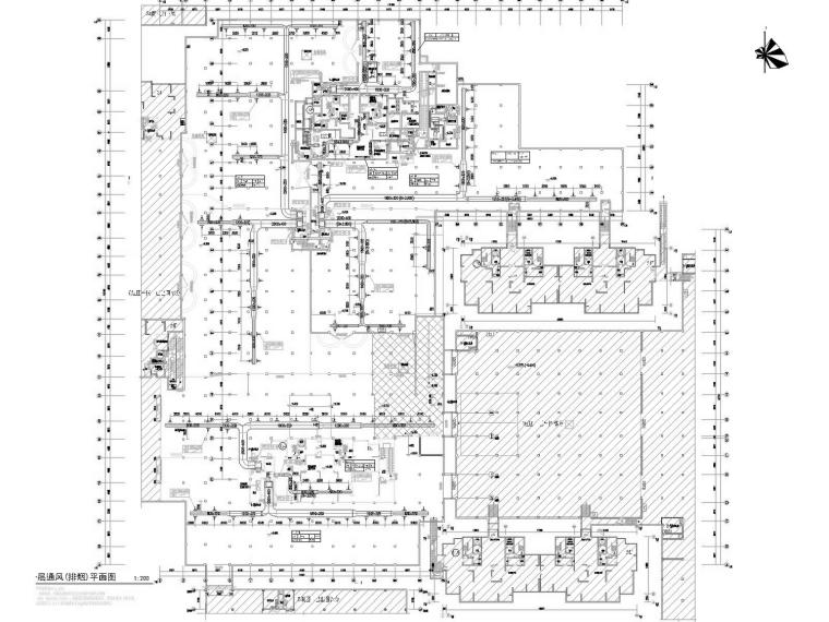 [江苏]整套住宅小区含地下部分通风及防排烟系统施工图(人防设计)