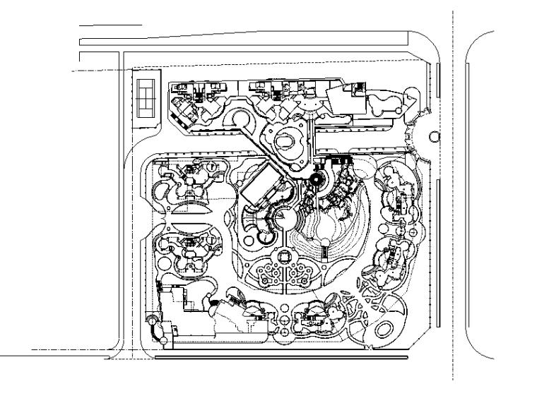 [广东]某城市中海华庭全套景观设计施工图.(包含CAD+55个文件)